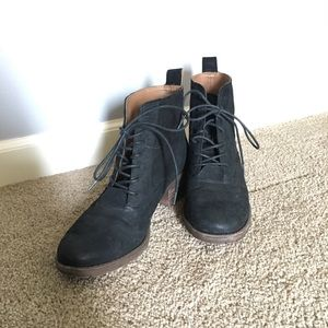 Lucky Brand Faux Suede Booties